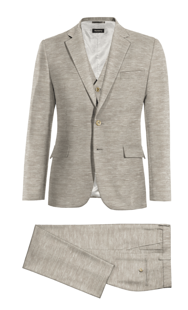 Grey 3-Piece polyester Suit