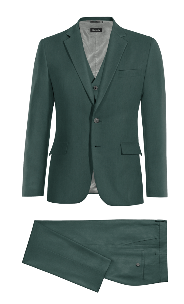 Green 3-Piece polyester Suit