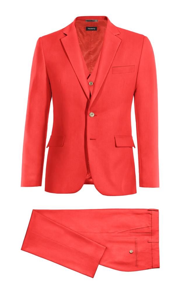 Red 3-Piece polyester Suit