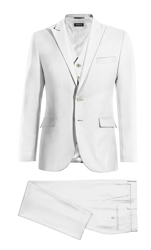 White 3-Piece linen Suit