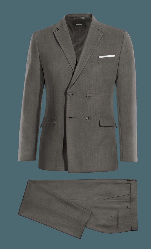 Costume gris 3 pièces en Laine