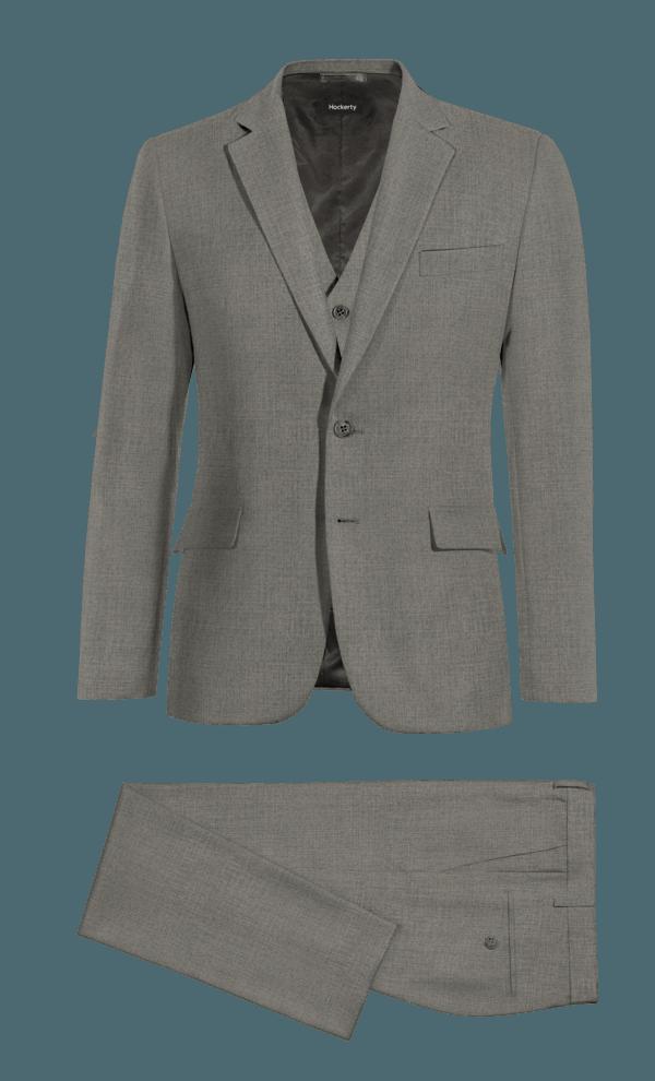Grey 3-Piece wool Suit