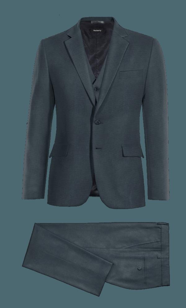 Blue 3-Piece cotton Suit