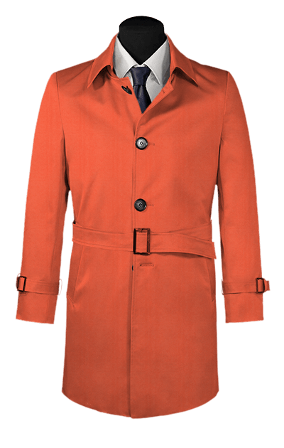 sports shoes d5364 a7901 Roter Trenchcoat mit Gürtel