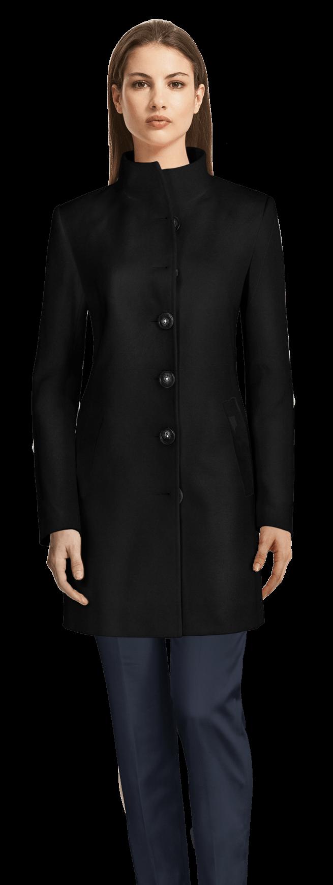 10bdac38b94cea Schwarzer Mantel mit Stehkragen 179€ - Tamar   Sumissura