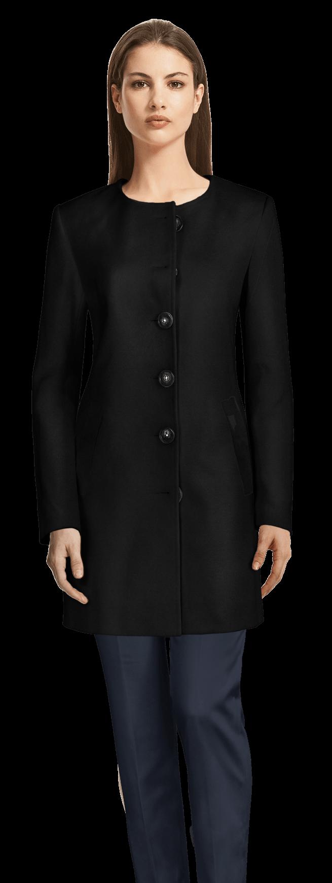 new product dba1a d51c0 Cappotto senza collo nero