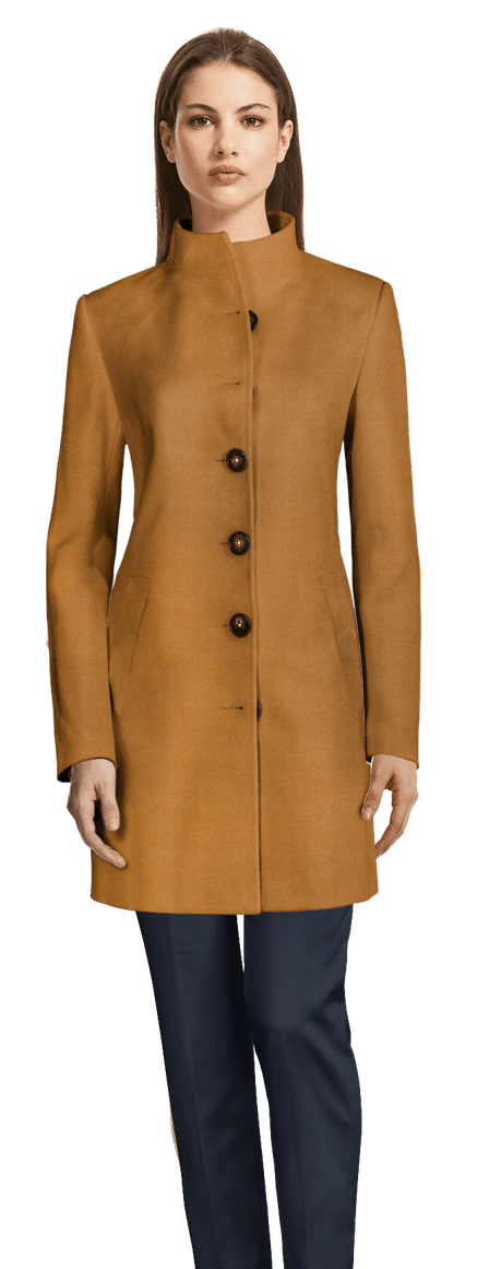 Manteau officier camel