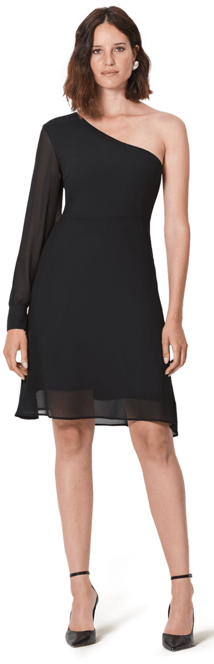Robe Courte Noire A Manches Longues Chf199 Sumissura