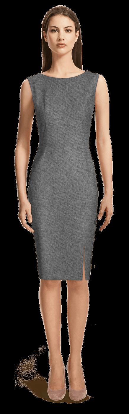 ca13a030de90 Vestito tubino grigio senza maniche 99€ - Raybrook
