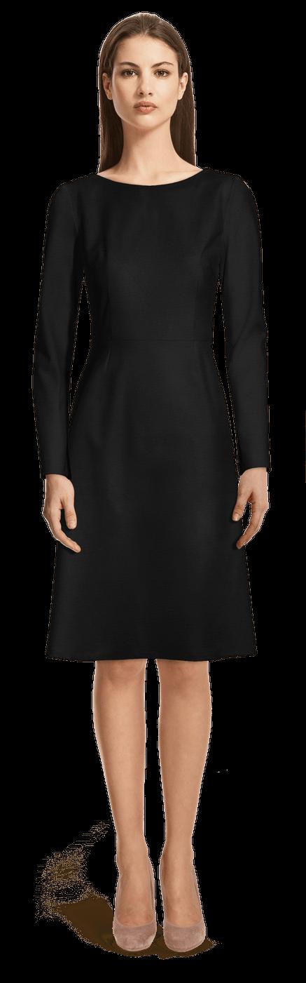 Schwarze Knielange Kleider Sumissura