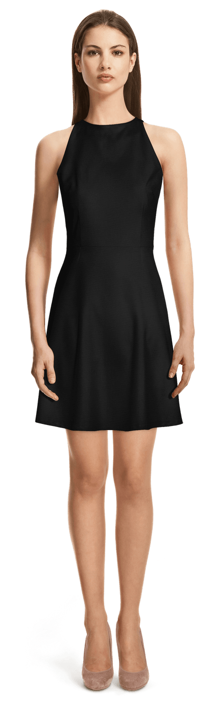 Schwarzes Skater Kleid Mit Neckholder 99 Sumissura