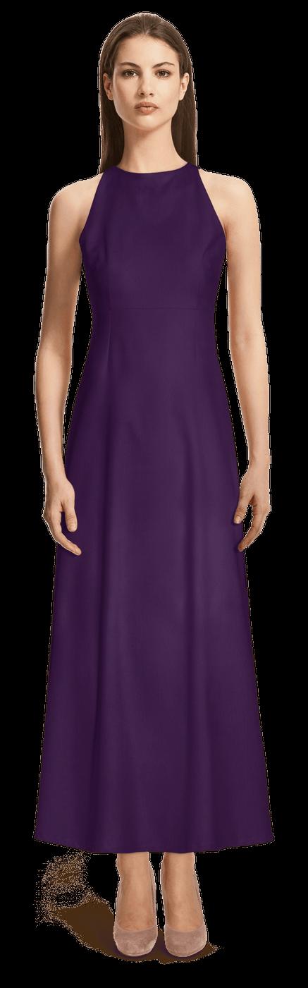 Robe Longue Mauve Fonce 109 Sumissura