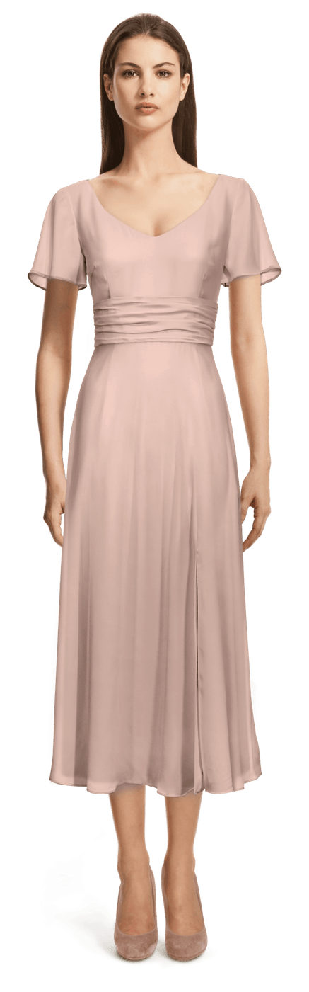 HenzWorld Damen Classic Business Midi Kleid 3//4 /Ärmel R/ücken Rei/ßverschluss V-Ausschnitt Rock Damen Vintage Slim Cocktail Bleistiftkleid
