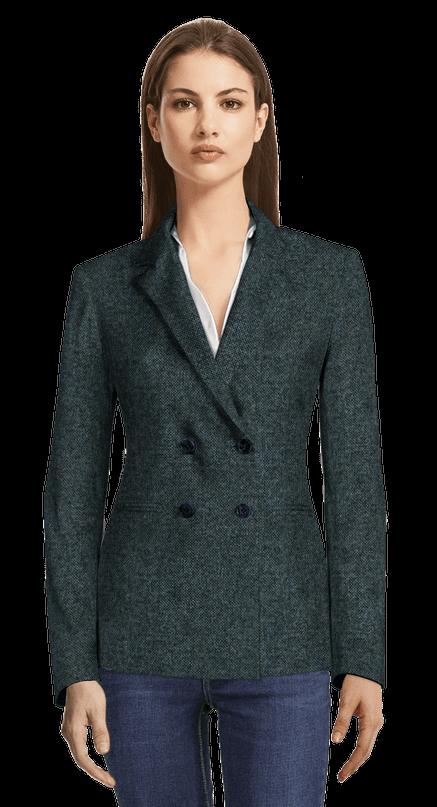 la mejor moda de calidad superior buen servicio Blazer cruzada de tweed azul