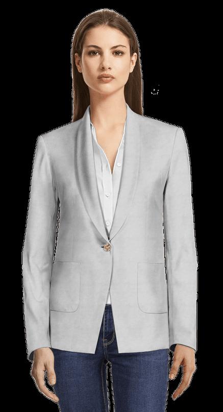 f118d594a4 Blazer grigio di lino con tasche applicate 139€ | Sumissura