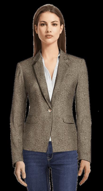 50% rebajado amplia selección muy baratas Light Brown tweed Blazer