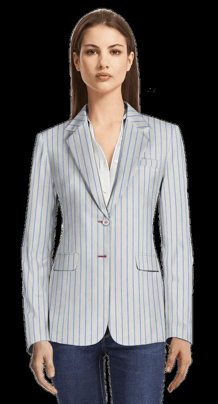 cómo llegar online para la venta venta en línea Americana blanca a rayas de lino