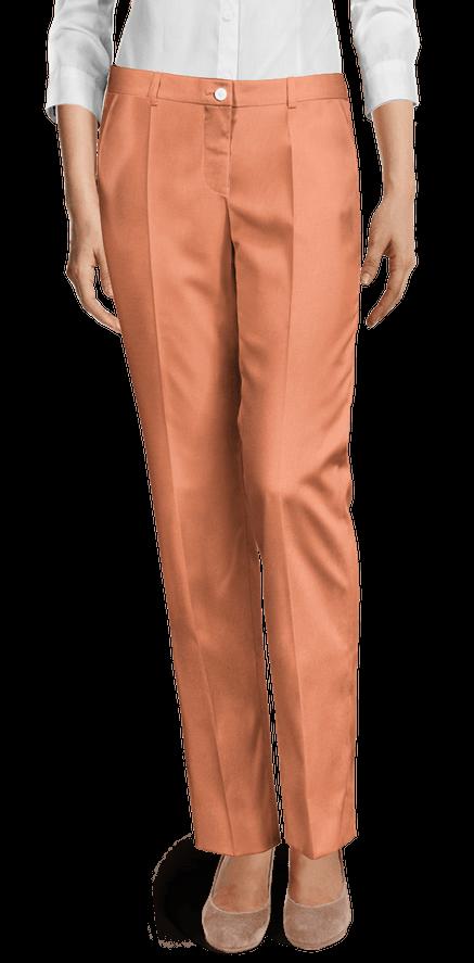 Pantalones Mujer Naranjas Liso Sumissura