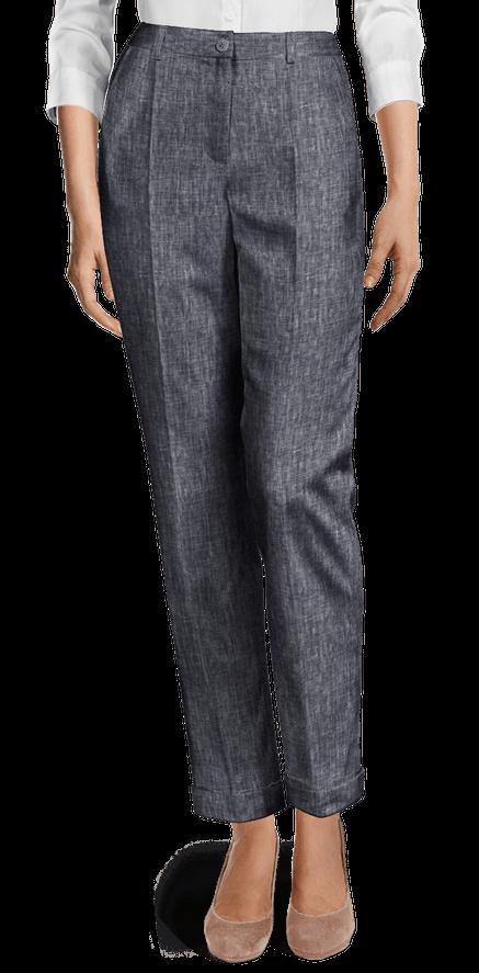 Pantalones Tobilleros De Tiro Alto Sumissura