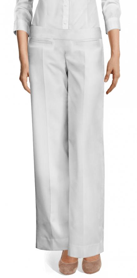 vendita calda online 219b1 d94c0 Pantaloni a Palazzo bianchi di lino