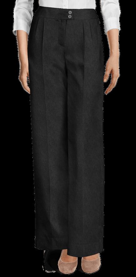 b1e9cb19ea Black linen wide leg high waisted Pants $89 - Wailua | Sumissura