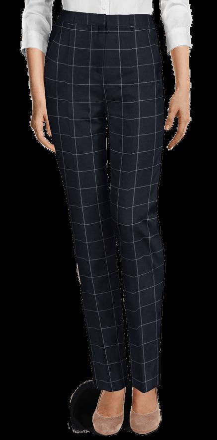 Pantalones de algodón de tiro alto