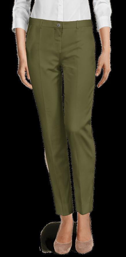Pantalones Tobilleros Pitillo Verdes Sumissura