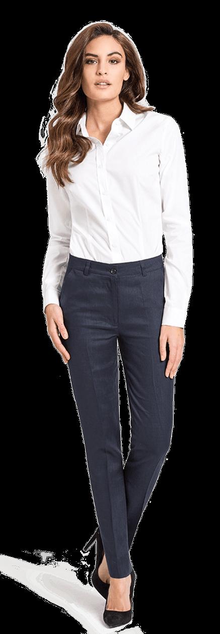 Camisa De Vestir Blanca Algodón Poplin