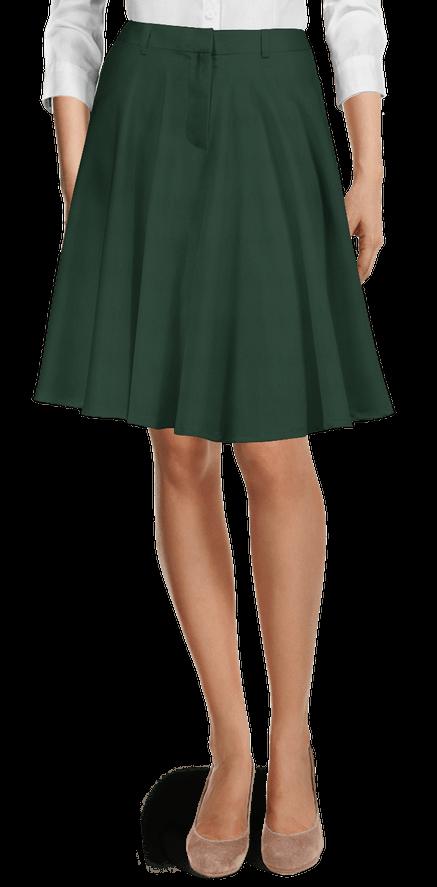 Jupe vert Évasée en Laine 79€ - Robin Hood   Sumissura d676cea677fc