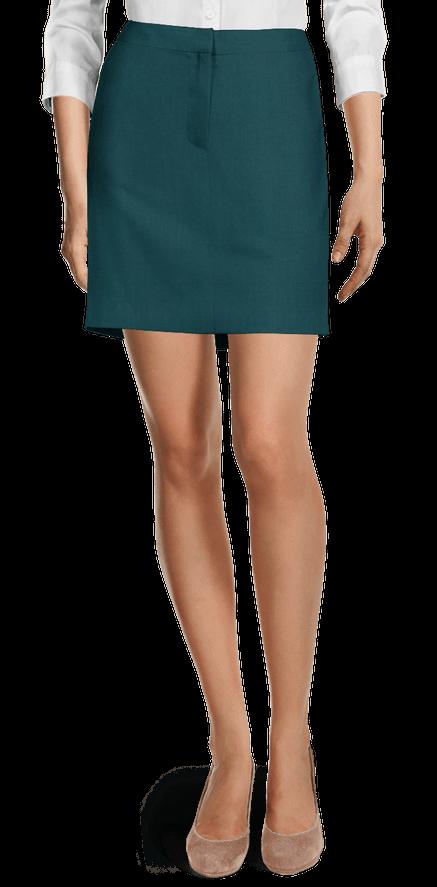 81a49f74d2ebc Green Short Wool Blend Pencil Skirt