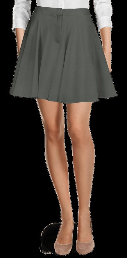 disfruta de precio barato colores delicados barato mejor valorado Faldas grises de Algodón de entretiempo | Sumissura