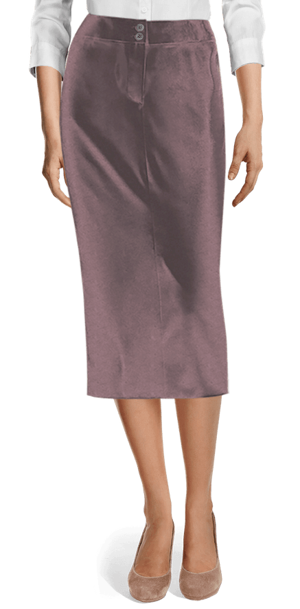 latest selection of 2019 choose newest 100% high quality Purple Midi Velvet Pencil Skirt