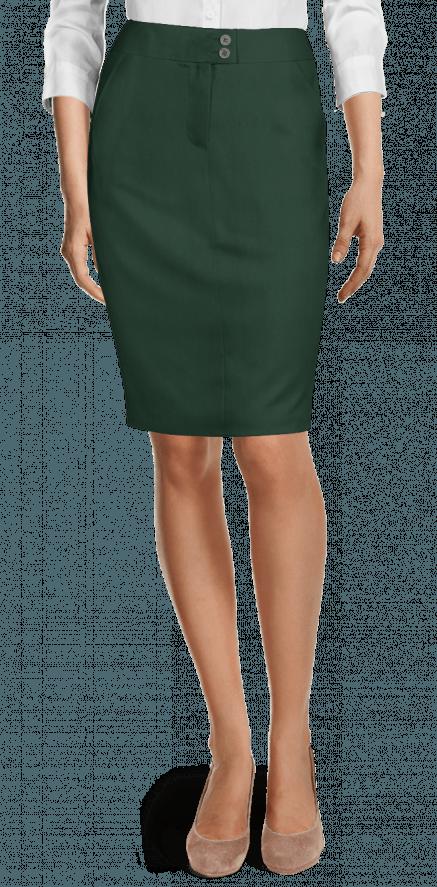 f259942712107 Falda de tubo de Lana verde  99 - Robin Hood