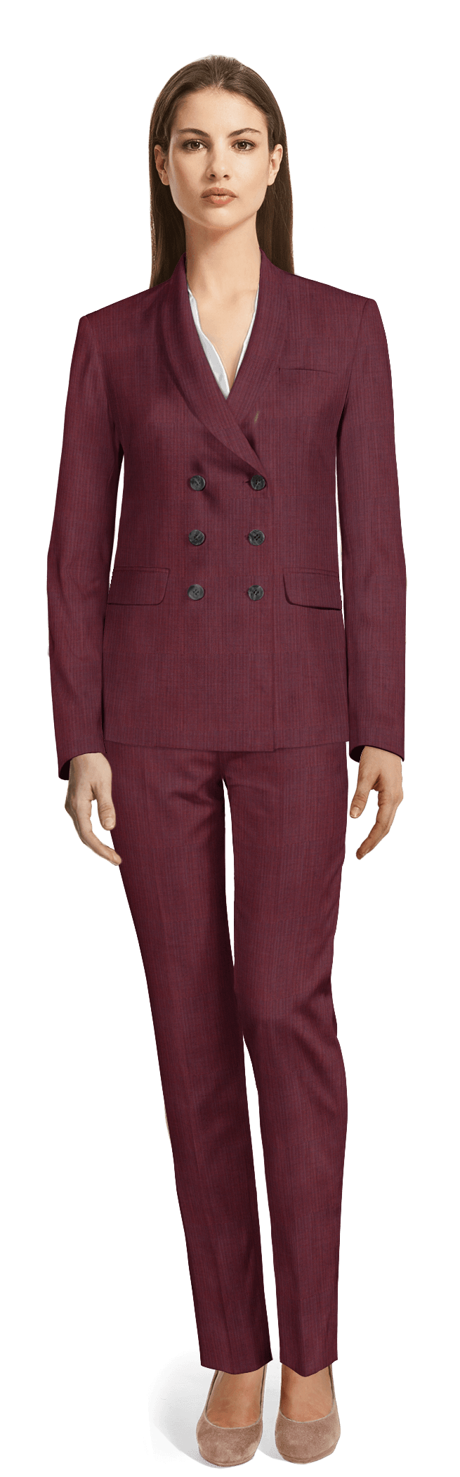 324286d47ed4 OUR WOMEN S PANTSUITS COLLECTIONS. Red Double breasted Wool blend Pant Suit