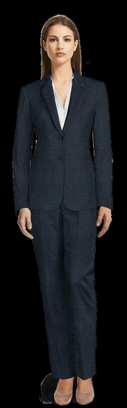 best service 73450 b9109 Marineblau Tweed Damen Anzug
