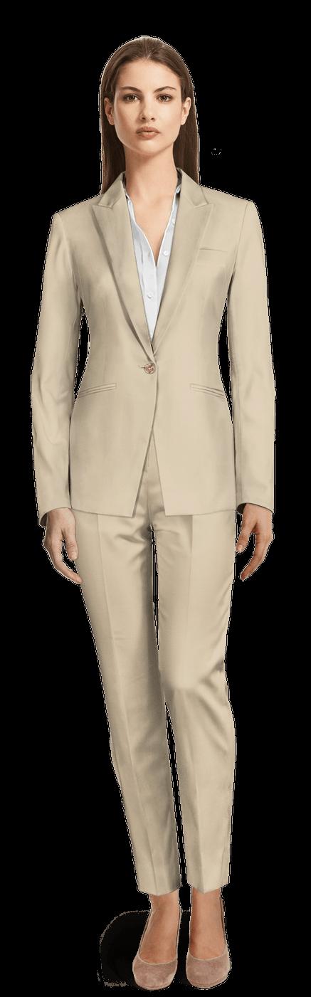 Pantalon En Sable Tailleur Femme Coton PkZXuTlOiw