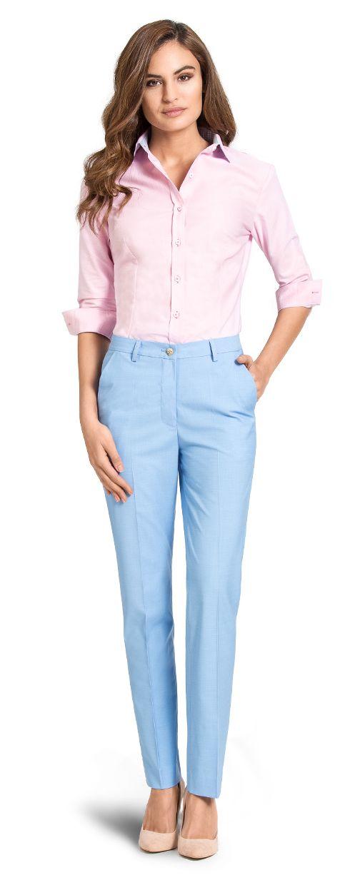 blue linen pant for woman
