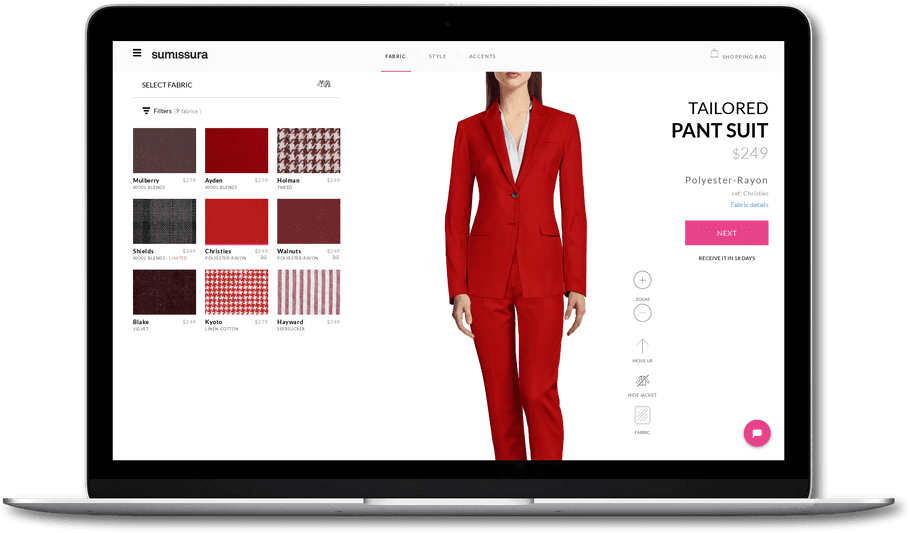 5c25db6a1c643 Look unique and sharp in Sumissura tailored Pant Suits. Choose your own  style and forget about standard sizes. Go in style with our custom tailor  made pant ...