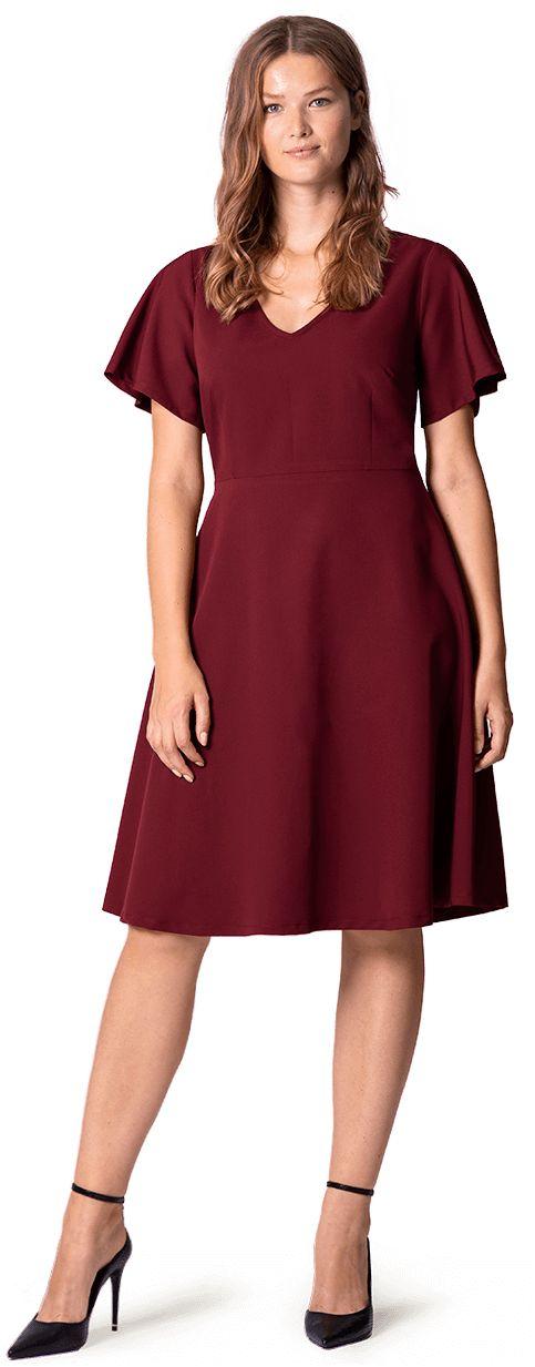 vestido rojo evasé a medida