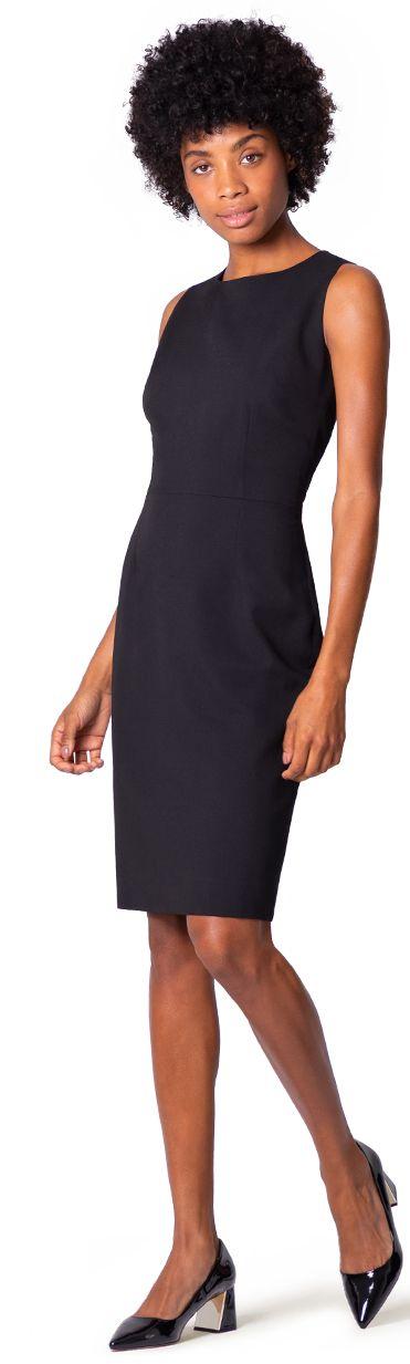 black custom dress