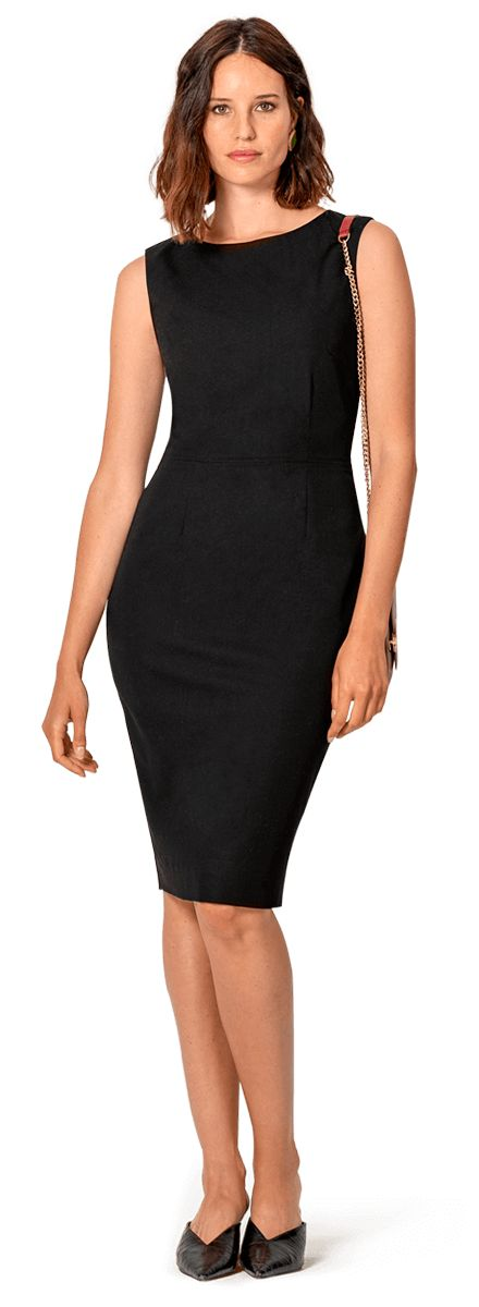 vestido negro a medida