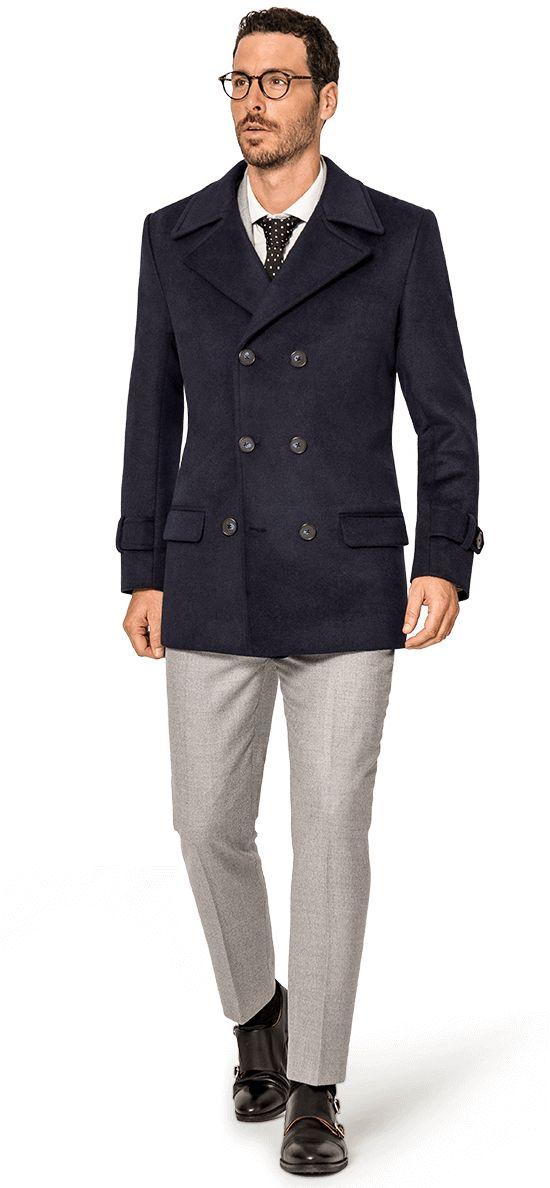 navy blue pea coats