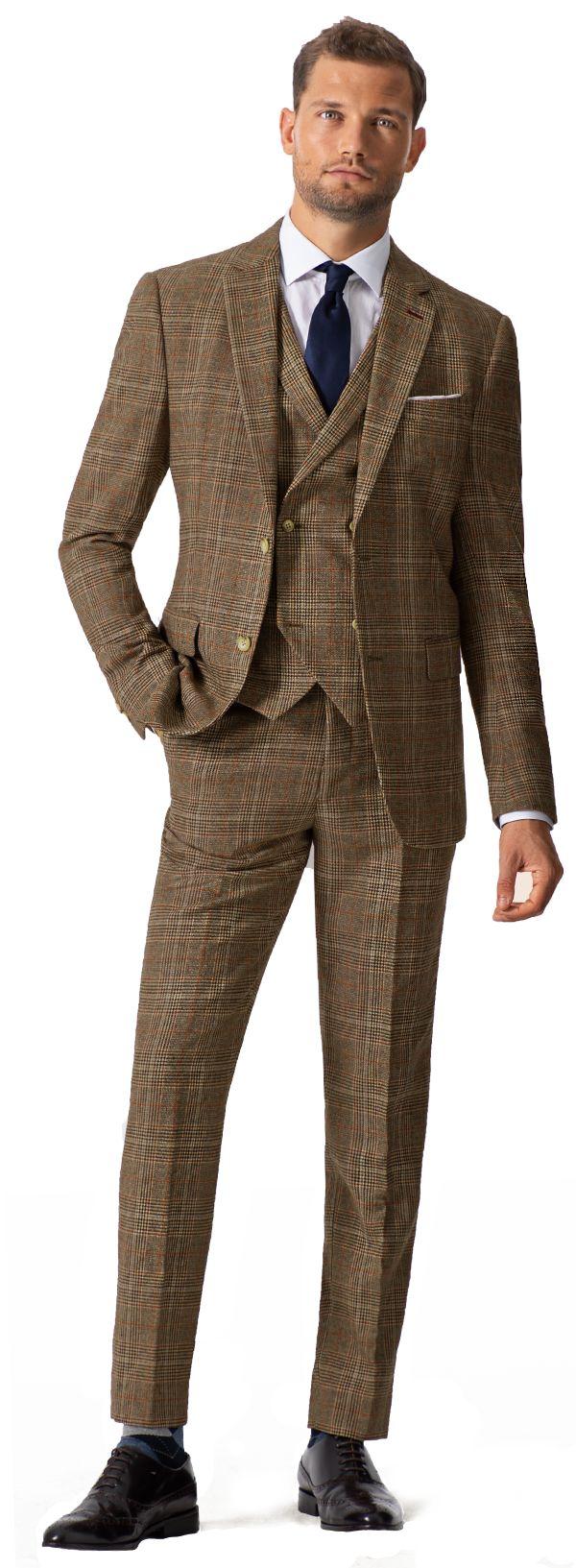 Dreiteiliger Tweed Anzug