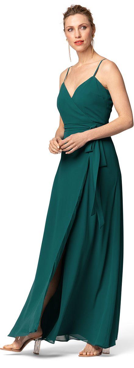 Green wedding guest dress