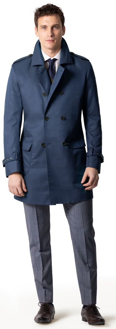 mens short trench coat