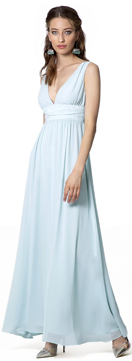 vestido imperio azul cielo