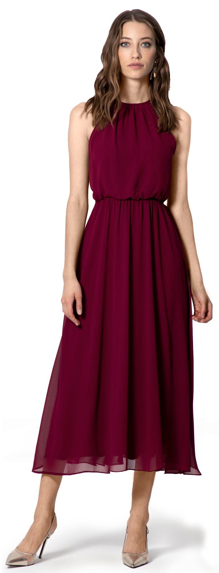 vestito damigiela rosso