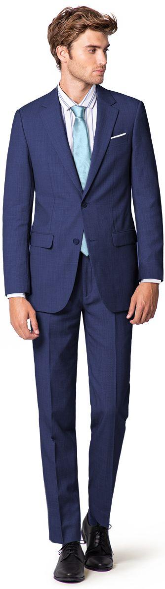 costume bleu roi homme