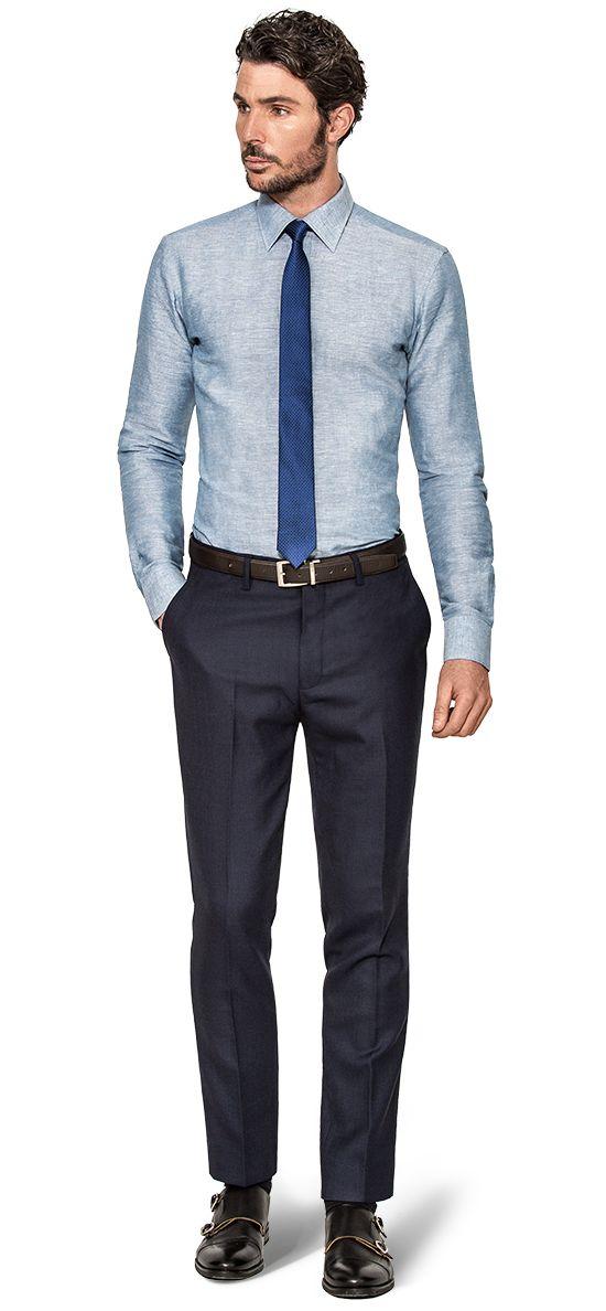 camicia dobby uomo