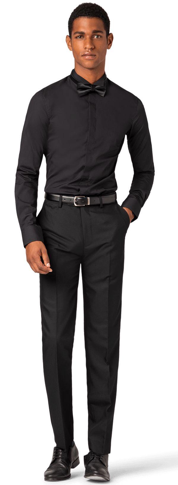 Black tuxedo shirt